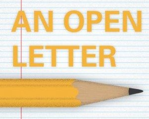 letter and pencil